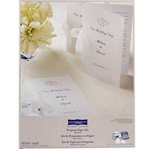 Wedding Occasions Half-Fold Program Paper kit
